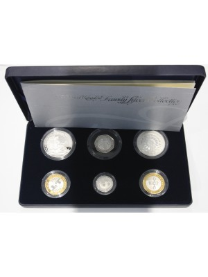 2007  United Kingdom Family Silver Proof Coin Set By The Royal Mint
